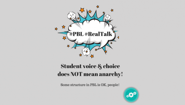 Student voice and choice does not mean anarchy.