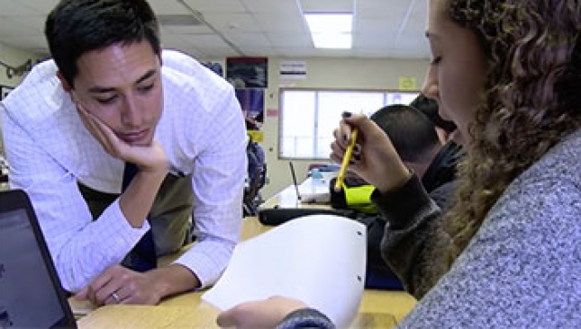 See how ninth grade teacher Matt Colley's students work in small groups to research and plan an action project focused on a contemporary problem