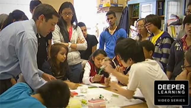 see project-based learning in action in a content area classroom