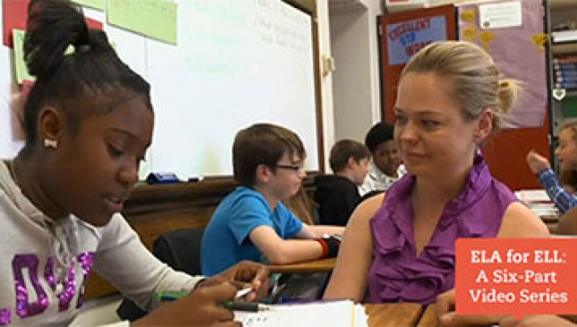 ELA instruction for middle school English Language Learners