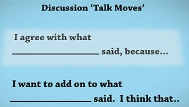 Empowers students with talk moves