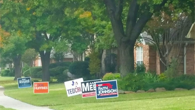 Political Signs in Texas