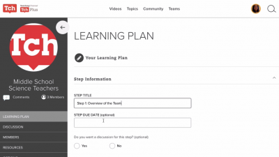 How to Create a Learning Plan