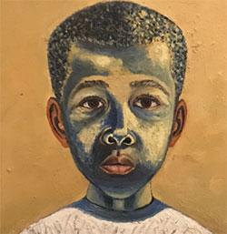 Portrait of a Young Boy 1958 by Simon Lekgetho