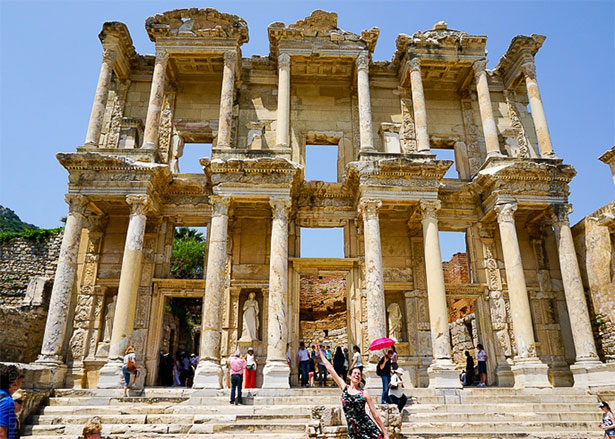 Library of Celcus, Ephesus, Turkey by Lillie Marshall