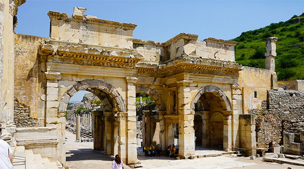 Gate of Augustus, Ephesus, Turkey photo by Lillie Marshall
