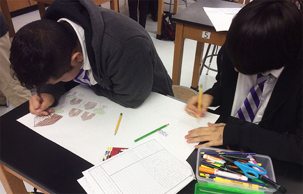 Right Question Institute: Two Boys Drawing Their Posters