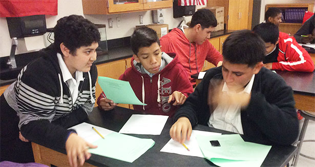 Right Question Institute: Boys Around The Table Formulating Questions
