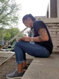 Bridging the Gap- Girl reading